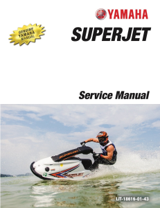 YAMAHA WAVERUNNER SUPER JET  Workshop & Repair manual | Documents and Forms | Manuals