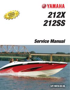 yamaha boat 212x 212ss workshop & repair manual