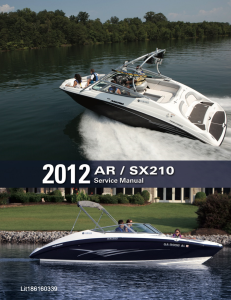 YAMAHA BOAT AR210 SX210 Workshop & Repair manual | Documents and Forms | Manuals