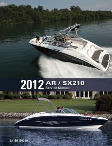 yamaha boat ar210 sx210 workshop & repair manual