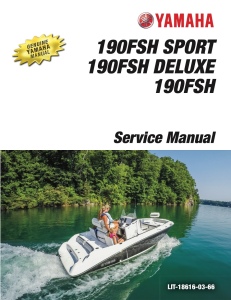 yamaha boat 190 fsh workshop & repair manual