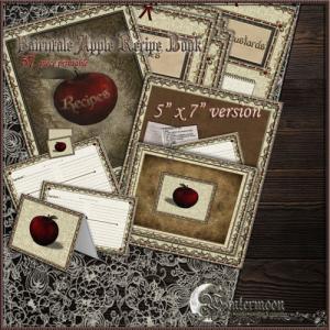 fairytale apple printable cookbook craft 5x7 version