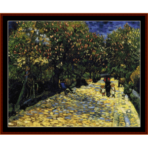 Flowering Chestnut Trees - Van Gogh cross stitch pattern by Cross Stitch Collectibles   Crafting   Cross-Stitch   Other