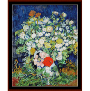 Flowers in a Vase - Van Gogh cross stitch pattern by Cross Stitch Collectibles | Crafting | Cross-Stitch | Other