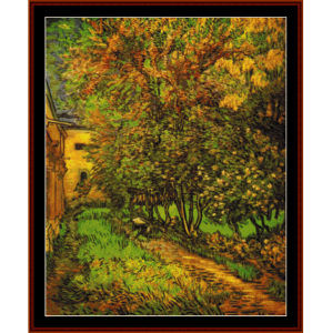 Garden of St. Paul Hospital - Van Gogh cross stitch pattern by Cross Stitch Collectibles | Crafting | Cross-Stitch | Other