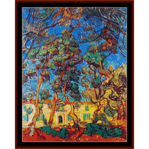 Grounds of the Asylum II - Van Gogh cross stitch pattern by Cross Stitch Collectibles | Crafting | Cross-Stitch | Other