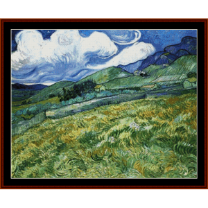 Mountainous Landscape - Van Gogh cross stitch pattern by Cross Stitch Collectibles | Crafting | Cross-Stitch | Other