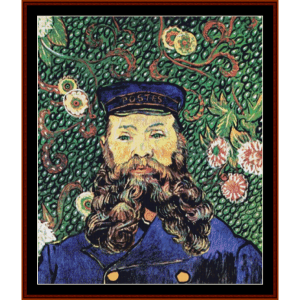 Postman Joseph Roulin - Van Gogh cross stitch pattern by Cross Stitch Collectibles | Crafting | Cross-Stitch | Other