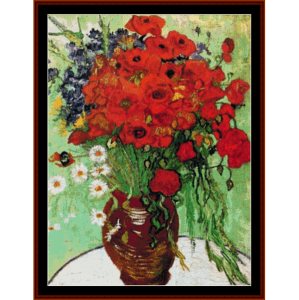 Red Poppies and Daisies - Van Gogh cross stitch pattern by Cross Stitch Collectibles | Crafting | Cross-Stitch | Other