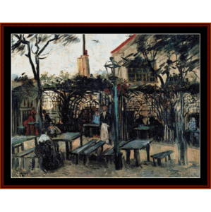 terrace of a cafe - van gogh cross stitch pattern by cross stitch collectibles