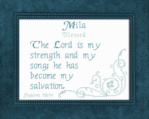 Name Blessings - Mila | Crafting | Cross-Stitch | Other