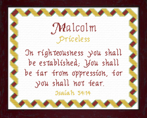Name Blessings - Malcolm | Crafting | Cross-Stitch | Other