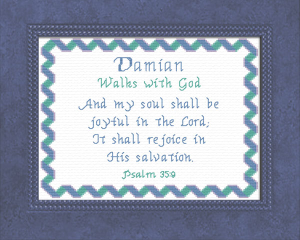 Name Blessings - Damian | Crafting | Cross-Stitch | Other