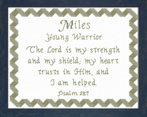 Name Blessings - Miles 2 | Crafting | Cross-Stitch | Other