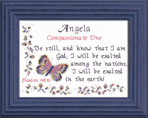 Name Blessings - Angela 2 | Crafting | Cross-Stitch | Other