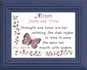Name Blessings - Alison | Crafting | Cross-Stitch | Other