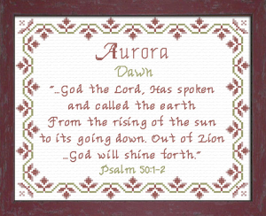 Name Blessings - Aurora | Crafting | Cross-Stitch | Other