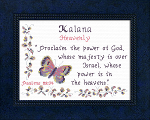 Name Blessings - Kalana | Crafting | Cross-Stitch | Other