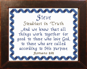 Name Blessings - Steve 2 | Crafting | Cross-Stitch | Other