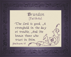 Name Blessings - Brandon | Crafting | Cross-Stitch | Other