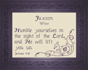 Name Blessings - Jaxson | Crafting | Cross-Stitch | Other