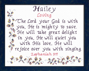 Name Blessings - Hailey 2 | Crafting | Cross-Stitch | Other
