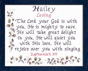 name blessings - hailey 2