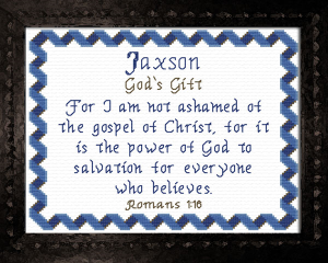 Name Blessings - Jaxson 2   Crafting   Cross-Stitch   Other