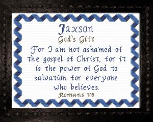 name blessings - jaxson 2