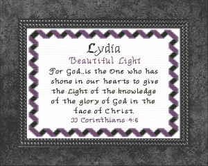 Name Blessings - Lydia 3 | Crafting | Cross-Stitch | Other
