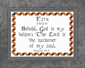Name Blessings - Ezra 2 | Crafting | Cross-Stitch | Other