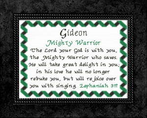 Name Blessings - Gideon | Crafting | Cross-Stitch | Other