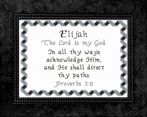 Name Blessings - Elijah 5 | Crafting | Cross-Stitch | Other