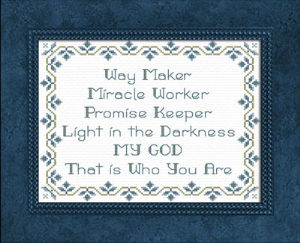 Way Maker Blues | Crafting | Cross-Stitch | Other