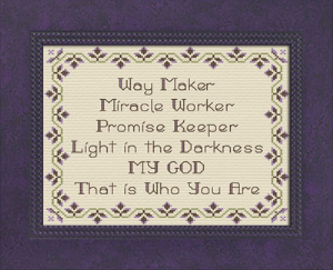 Way Maker Purples | Crafting | Cross-Stitch | Other