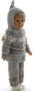 dollknittingpattern 0208d ine - sweater, pants, short-sleeves sweater, cap, socks-(english)