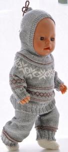 dollknittingpatterns modell 0208d ine - genser, lue, kortermet genser, bukse og sokker -(norsk)