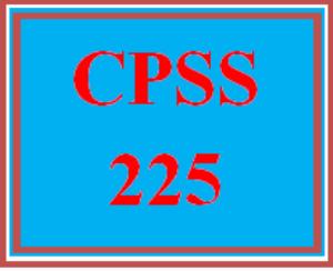 CPSS 225 Wk 3 - Resume | eBooks | Education