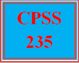 CPSS 235 Entire Course | eBooks | Education