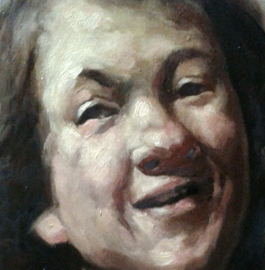 painting portraits alla prima - rembrandt laughing