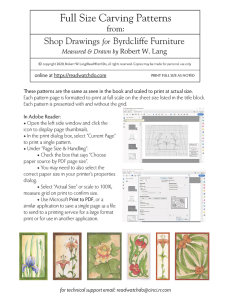 Full-size Byrdcliffe Carving Patterns | Photos and Images | General