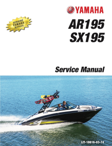 yamaha boat ar195 sx195 workshop & repair manual