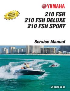 yamaha boat 210 fsh workshop & repair manual