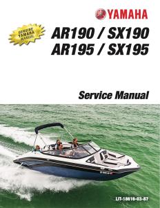 yamaha boat ar190 sx190 ar195 sx195 workshop & repair manual