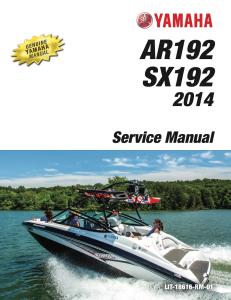 yamaha boat ar192 sx192 2014 workshop & repair manual