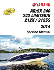 YAMAHA BOAT AR240 SX240 Workshop & Repair manual | Documents and Forms | Manuals