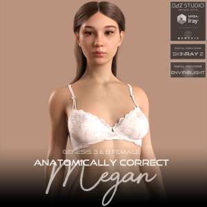 anatomically correct: megan for genesis 3 and genesis 8 female