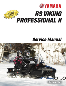 yamaha snowmobile  rs viking workshop & repair manual