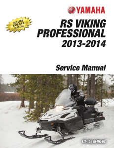 yamaha snowmobile  rs viking 2013 workshop & repair manual
