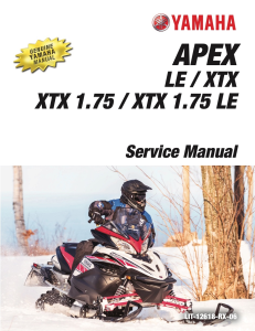 yamaha snowmobile  apex  workshop & repair manual